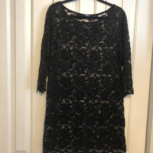 ASOS Black lace dress